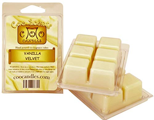 Coo Candles 3 Pack Soy Wickless Candle Bar Wax Melts - Vanilla Velvet ()