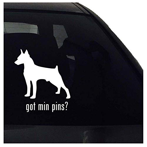 CECILIAPATER got min pins? Mniature Pinscher Dog Decal - Car Window Bumper Laptop - Decal Vinyl Sticker - Airedale Vinyl Decal