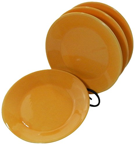 Solid Pasta Bowl - Le Souk Ceramique Side Plates, Solid Yellow Design, Set of 4