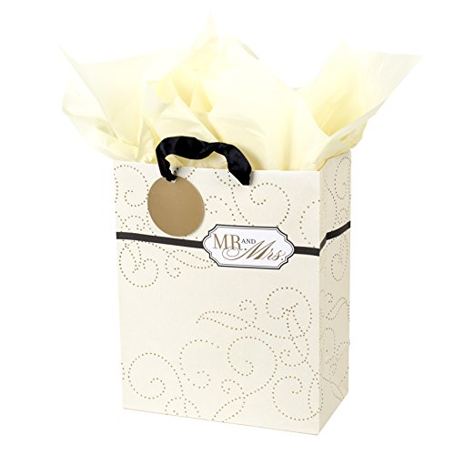 Hallmark Large Gift Bag with Tissue Paper (Mr. and (Large Wedding Gift Bags)