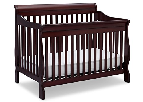 Infant Wood Crib - Delta Children Canton 4-in-1 Convertible Baby Crib, Espresso Cherry