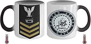Seabee Petty Officer First Class (PO1) Equipment Operator Rate, Gift for Navy Seabee E6 from Gearbubble