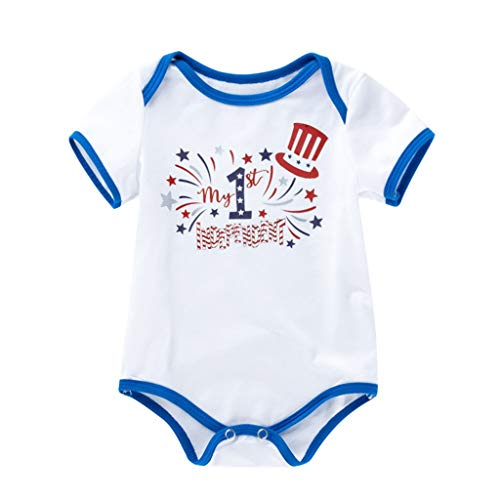 perfectCOCO 4th of July Baby Boy Girl Bodysuit Shirt Outfit Romper Jumpsuit Infant Kids Patriotic Clothing American Flag ()