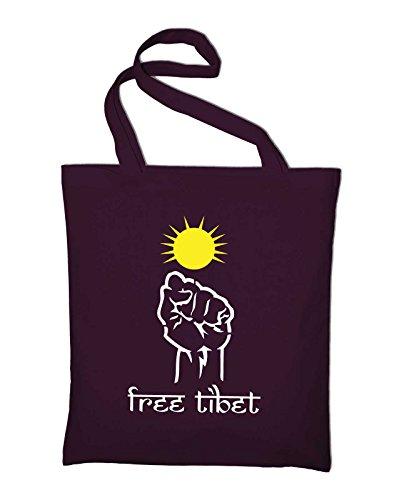 In And Tibet Fabric Tasche Free Bordeaux Styletex23bagfreetibet8 Red Jute yellow Cotton Yellow Bag Bag 54BWnwYqwf