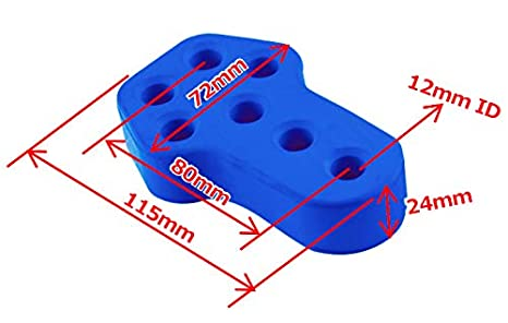 2 Hole Exhaust Hanger Bushing Muffler Insulator 12 mm ID Shock Absorbent High Density Rubber Blue Universal Pack of 2