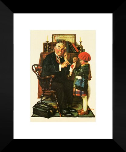 Doctor and Doll 20x24 Framed Art Print by Norman Rockwell (Dolls Norman Rockwell)