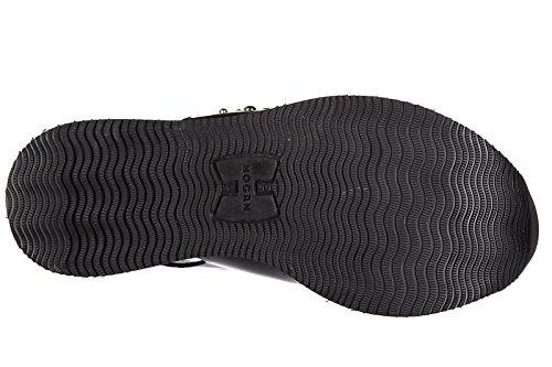 Hogan sandales femme en cuir h257 fasce incrociate noir