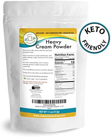 Heavy Cream Powder(11 oz): GMO and Preservative Free: Produced in the USA: Keto Friendly, Add Healthy Fat to Coffee, Freshness Locked in Package
