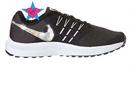 Amazon.com  Women Rhinestone Crystal Black White Nike Run Swift  Handmade 9c3f11790ff0