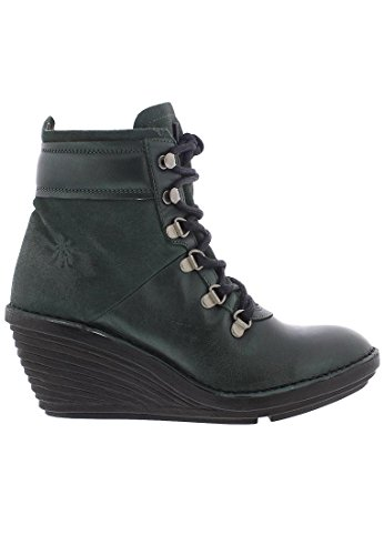 Fly London Mujeres Sica 678 Leather Botas Botella De Algas Marinas