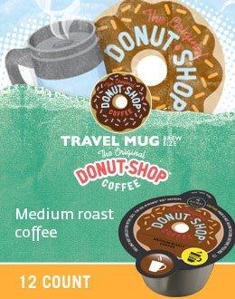 The Original Donut Shop Coffee Travel Mug Size for Keurig Vue by The Original Donut Shop