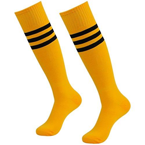 - Fasoar Men's Women's Thigh Stockings Over Knee High Boot Socks Birthday Gift Orange 2 Pack
