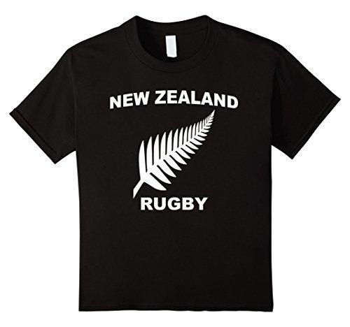 Kids New Zealand Rugby Jersey Tee Shirt 12 Black (Rugby Jersey T-shirt)