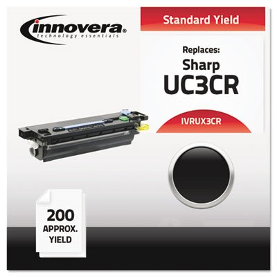 - UX3CR Compatible, Remanufactured, UX3CR Thermal Transfer, 200 Yield, Black, Sold as 1 Box, 2 Each per Box