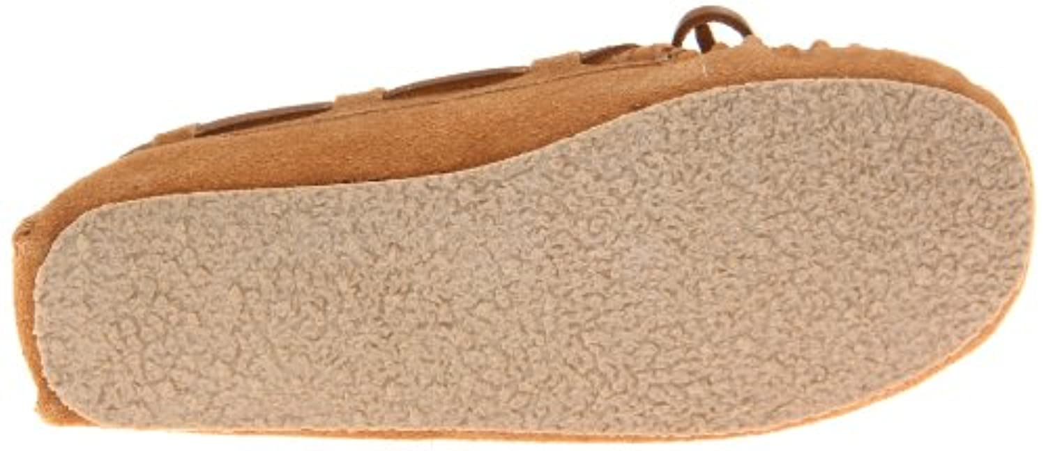 Minnetonka Cassie Slipper, Unisex Kids' Mocassins, Beige (Cinnamon), 1 UK (32/33 EU) (2 US)