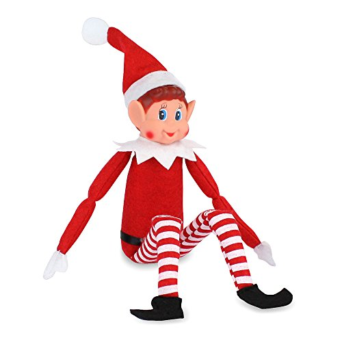 (eBuyGB Elves Sitting Upon Shelves Plush Toy Doll - Christmas Home Decoration Naughty Elf (Pack of 1))