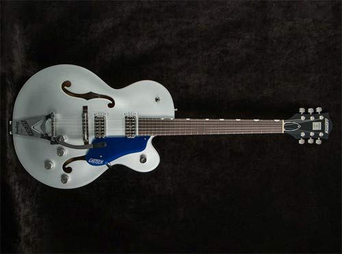 Gretsch G6118T Hollow Body Electric Guitar 2-Tone Iridium Silver/Azure Metallic