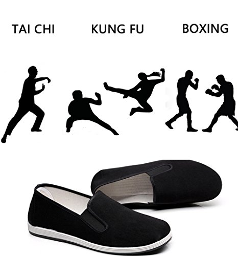 pestor Men's Women's Boxing Shoes Chinese Traditional Old Peking Shoe for Martial Art Foot Protection