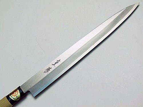 HONMAMON ''SHIGEKATSU'' Sashimi Hocho (Yanagiba Kitchen Knife) 270mm(abt 10.6 Inch) for Right Hander, Blade Edge : SK Material