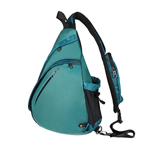 - OutdoorMaster Sling Bag - Crossbody Backpack for Women & Men (Camo Green)