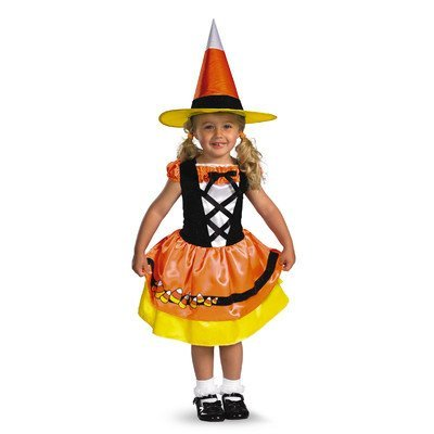 Disguise Candy Corn Cutie Toddler Costume, 3T-4T ()