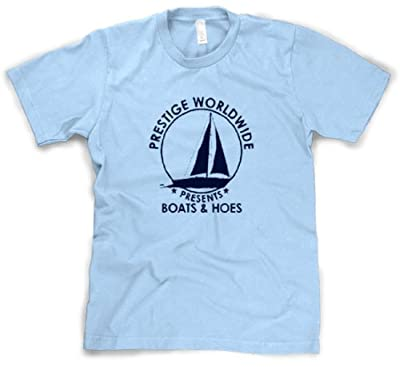 Mens Prestige Worldwide T shirt Funny Cool T shirts Hilarious Boating Tees
