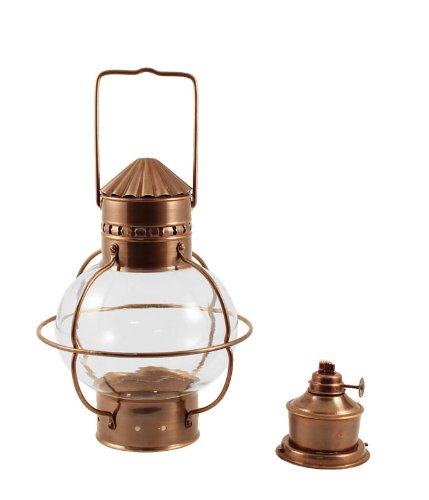 Nautical Oil Lamps - Antique Brass Onion Lantern 10'' by Vermont Lanterns