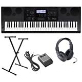 Casio WK-6600 Ultra-Premium Keyboard Package With Headphones, Stand, Sustain Pedal and Power Supply