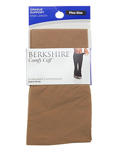 - Berkshire Plus Size Women's Plus Size Opaque Graduated Compression Trouser Sock, Nude, Plus Size