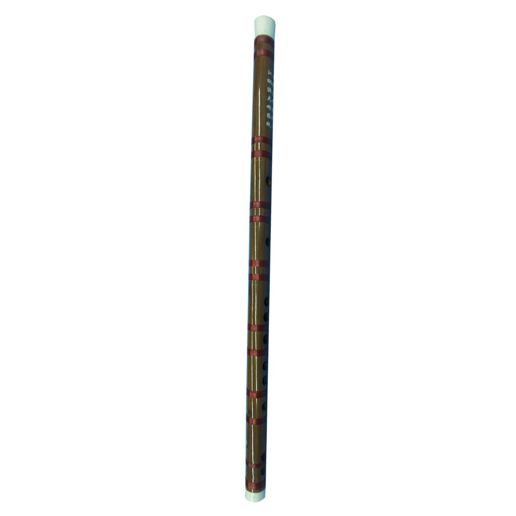 MagiDeal Traditional 51.5cm Chinese Bamboo Flute Soprano F Key Folk Music Instrument
