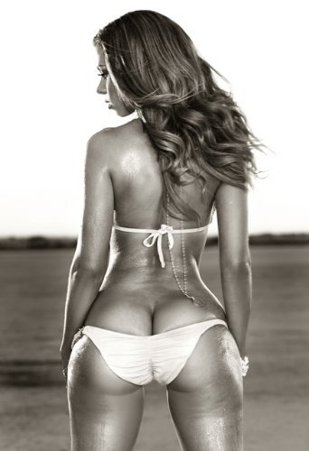 Bikini Booty Black and White 002 13x19 POSTER