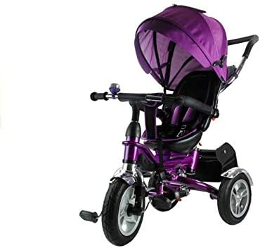 ATAA Triciclo EVOLUTIVO para NIÑOS - Rosa - carricoche para niños y Bebes - Cochecito Asiento Giratorio