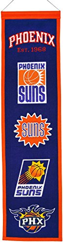 """NBA Basketball Phoenix Suns - 8""""x32"""" Heavy Wool with Embroidery Sport Team Logo Unframed Heritage Banner #3024"""