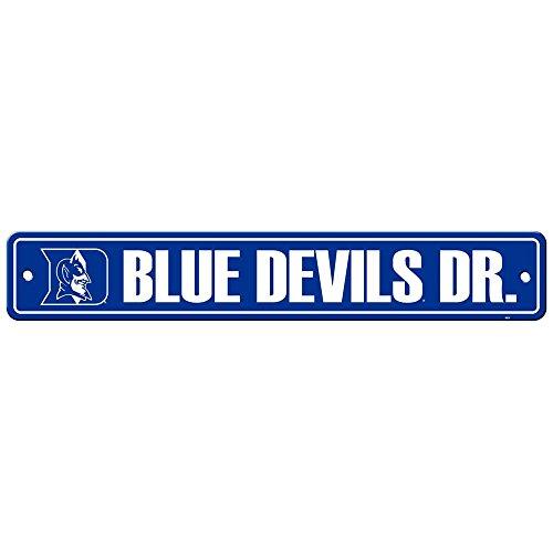 Duke University Blue Devils College NCAA Sports Team Collegiate Logo Home Office Garage Wall Street Sign - BLUE DEVILS DR.
