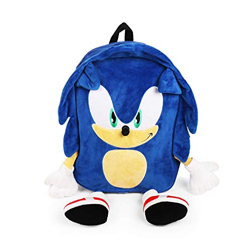 FAB Starpoint Sonic The Hedgehog Plush Full Body Blue Backpack
