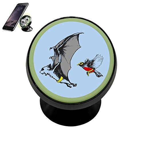 Zihoco Fashion Fly Bat And Robin Noctilucent Magnetic Phone Car Mount Holder
