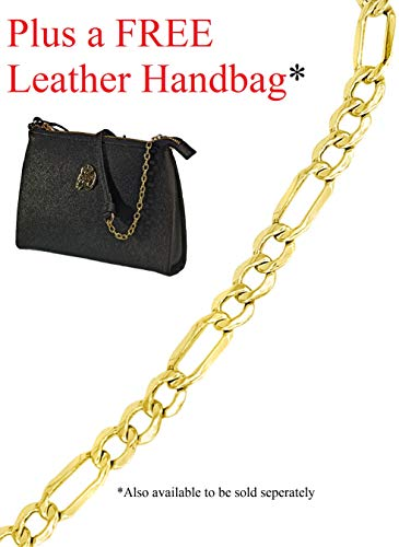 - 14k Gold Figaro Bracelet