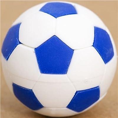 Goma de borrar balón de fútbol azul y blanco muy chula,Iwako ...
