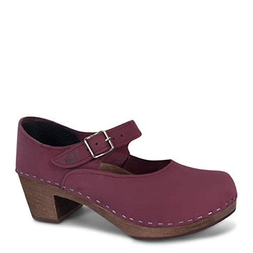 For Berry Naisille Women Wooden Sandgrens Mary Swedish High Clogs Heel Jane Korkokenkiä Ruotsin Puukengät qnZOw
