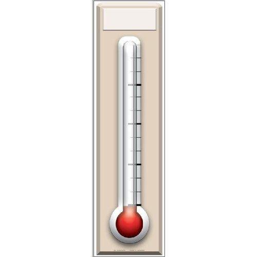 AmerTraders Espositore in Cartone termometro per Raccolta Fondi - 1,82 m