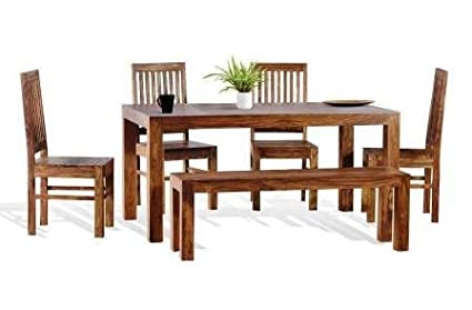 948889e7e42 Image Unavailable. Image not available for. Colour  Shilpi Sheesham Wood  Dining Table ...