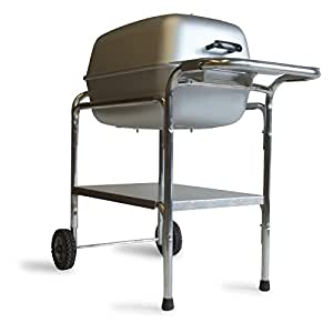 PK Grills Charcoal Grill Smoker Combo, Silver (PK99740)