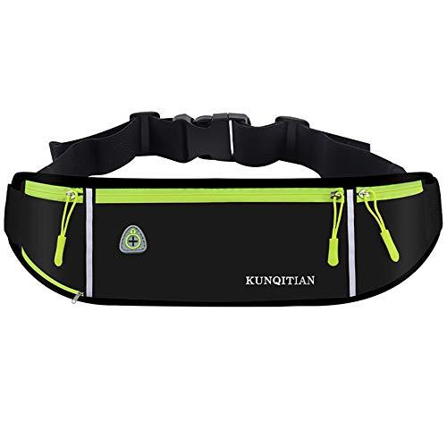 XUBX Running Heuptas hardlooptas met flessenhouder, waterdichte sport riem Running Belt, multifunctionele heuptas voor…