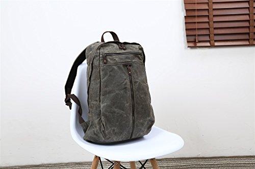 De Moda Size Crazy Bolso Piel Gray Brown Aceite Hombres Impermeable Retro color Los Mochila Batik Cera M Lona Para Bolsa Horse Ywx Hombro 4Ca5R7q5