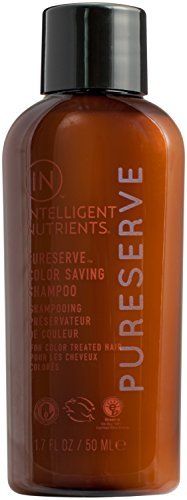 Intelligent Nutrients Travel Size PureServe Color Saving Shampoo - Plant Based Cleanser for Color-Treated Hair, Gentle & Non-Stripping (1.7 oz)