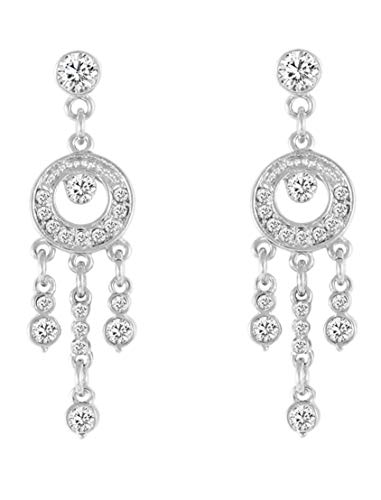 Bellina Wedding Chandelier Dangle Rhinestones Crystal Earring Hypoallergenic Stainless Steel Stem in Velvet Gift Box (Crystal Chandelier)