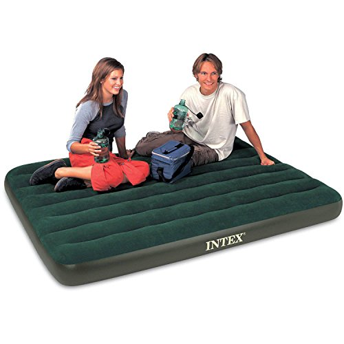 Air Beds With Built In Handheld Battery Pump Full Size 8.75' Intex Airbed Mattress Camping Air Bed Comfortable Sleeping Surface 54.00 ' x 75.00 ' x 8.75 ' Inflating Less Than 2 Mins
