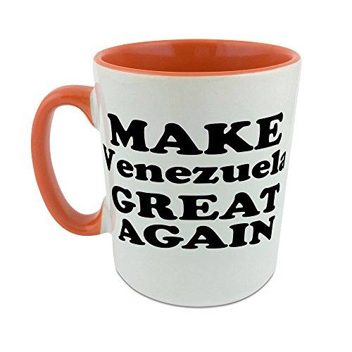 Hacer Venezuela gran nuevo taza con naranja perchero de pared de interior