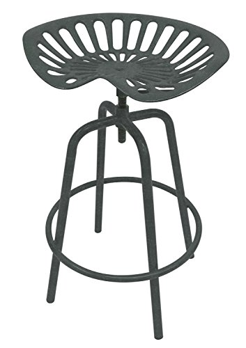 Leigh Country TX 97002 Tractor Seat Stool-Gray, Grey by Leigh Country (Image #1)