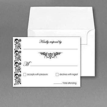 rsvp wedding return cards size 4 x 6 with a6 envelopes 50 per pack - Rsvp Card Size